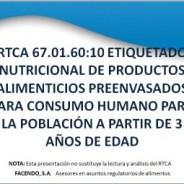 Etiquetado profesional de productos alimenticios preenvasados